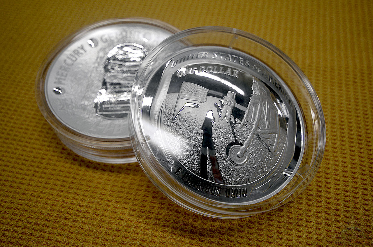 acd210ba02c50 The U.S. Mint has struck its first 2019 Apollo 11 50th Anniversary  commemorative coins