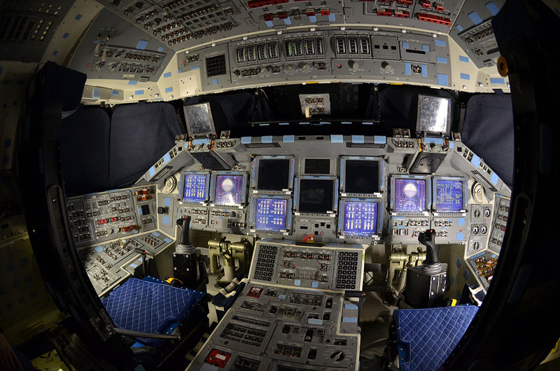 Rare, last look inside space shuttle Atlantis
