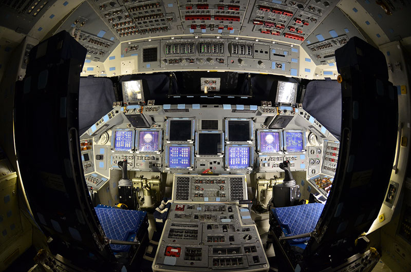 Rare Last Look Inside Space Shuttle Atlantis Photos