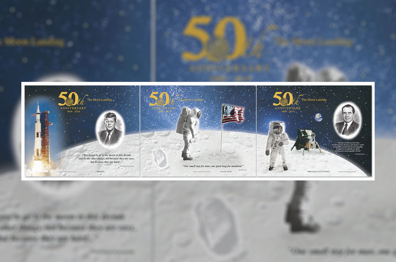 Moon landing prints: Bureau of Engraving and Printing marks Apollo