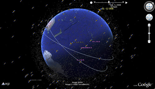 Realtime Satellite Tracking Via Google Earth CollectSPACE Messages - 3d earth maps satellite