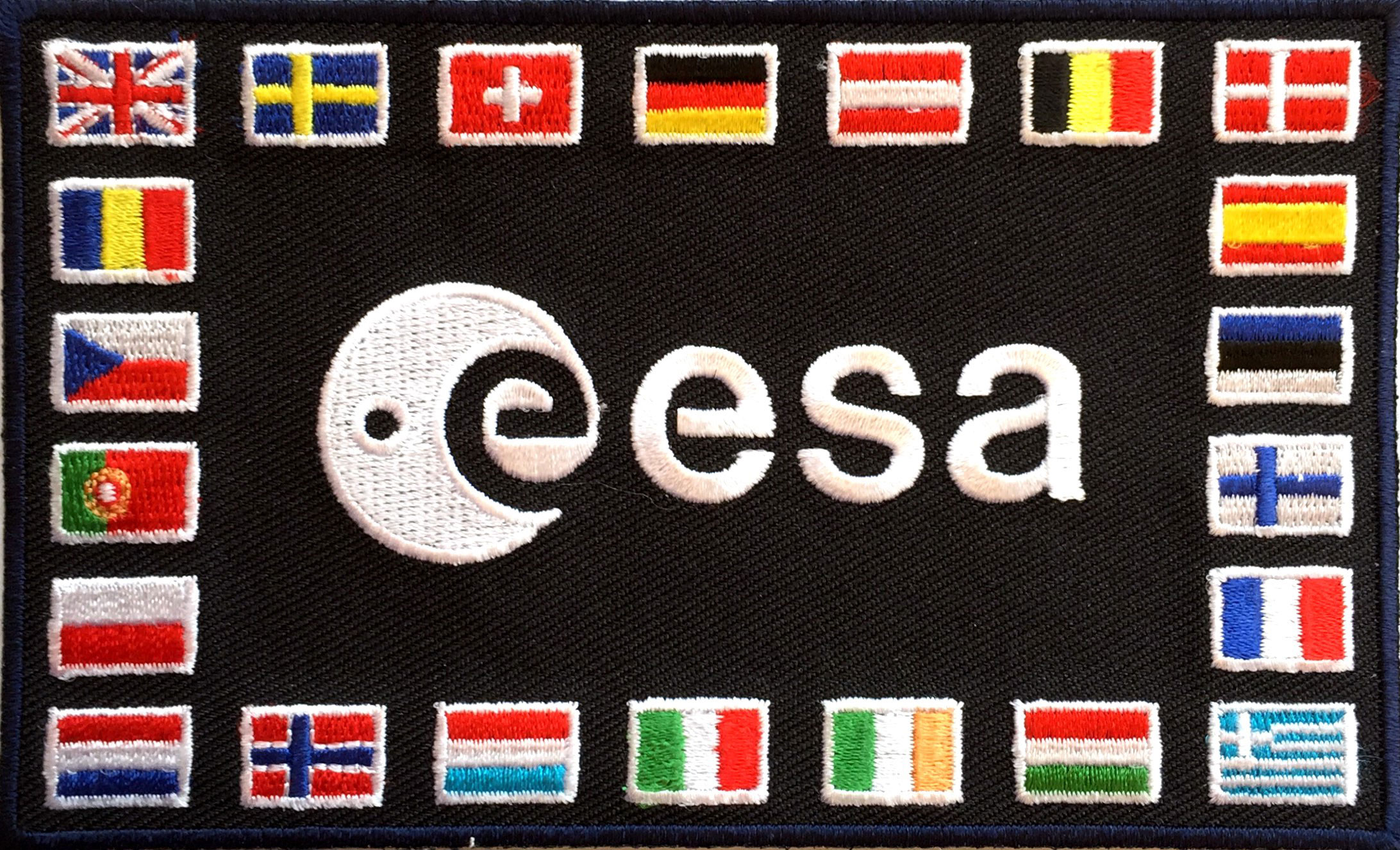 european space agency esa shoulder patch collectspace