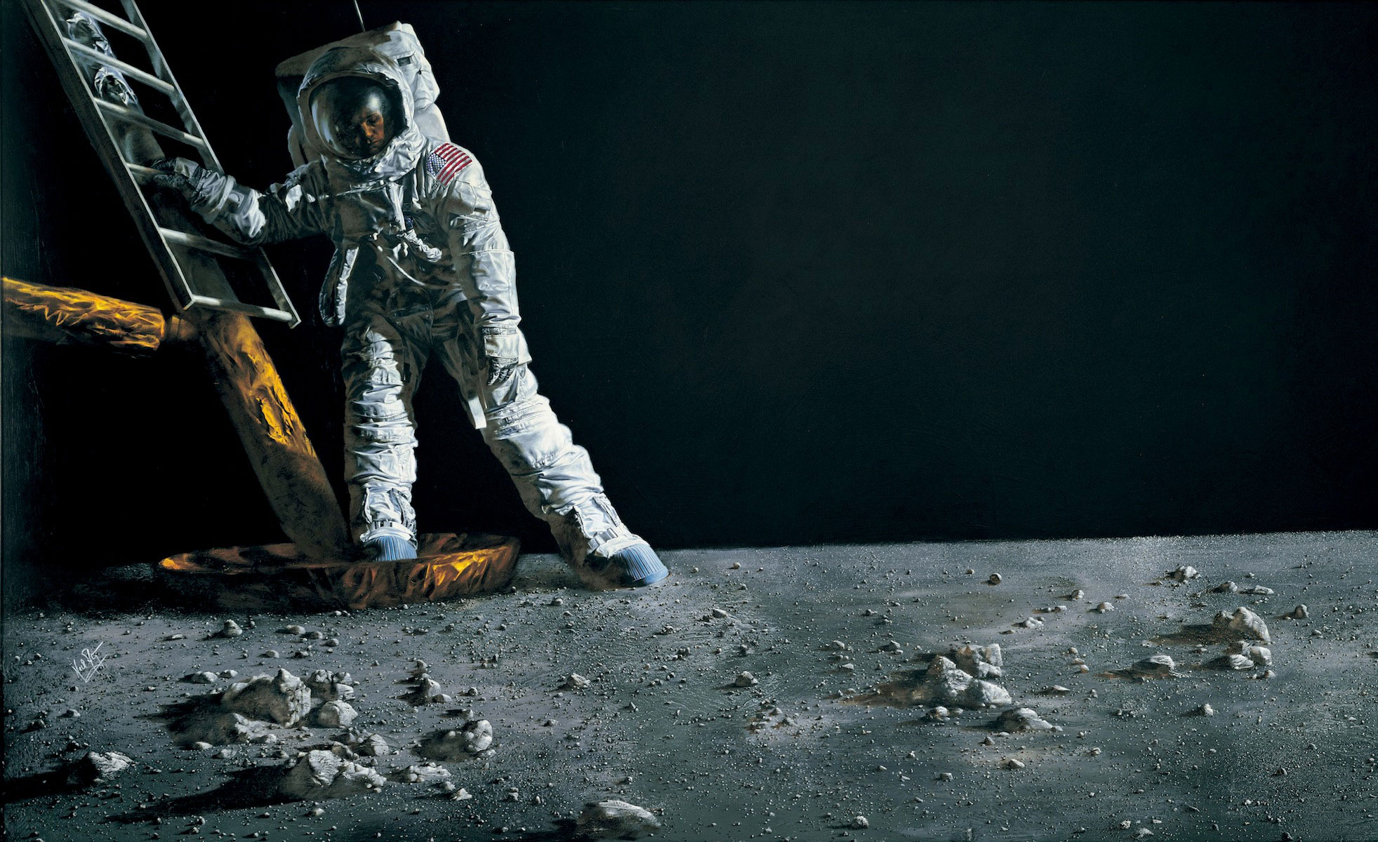 Did Neil Armstrong Mislead the World About His 'One Small ... |Moon First Step Onto