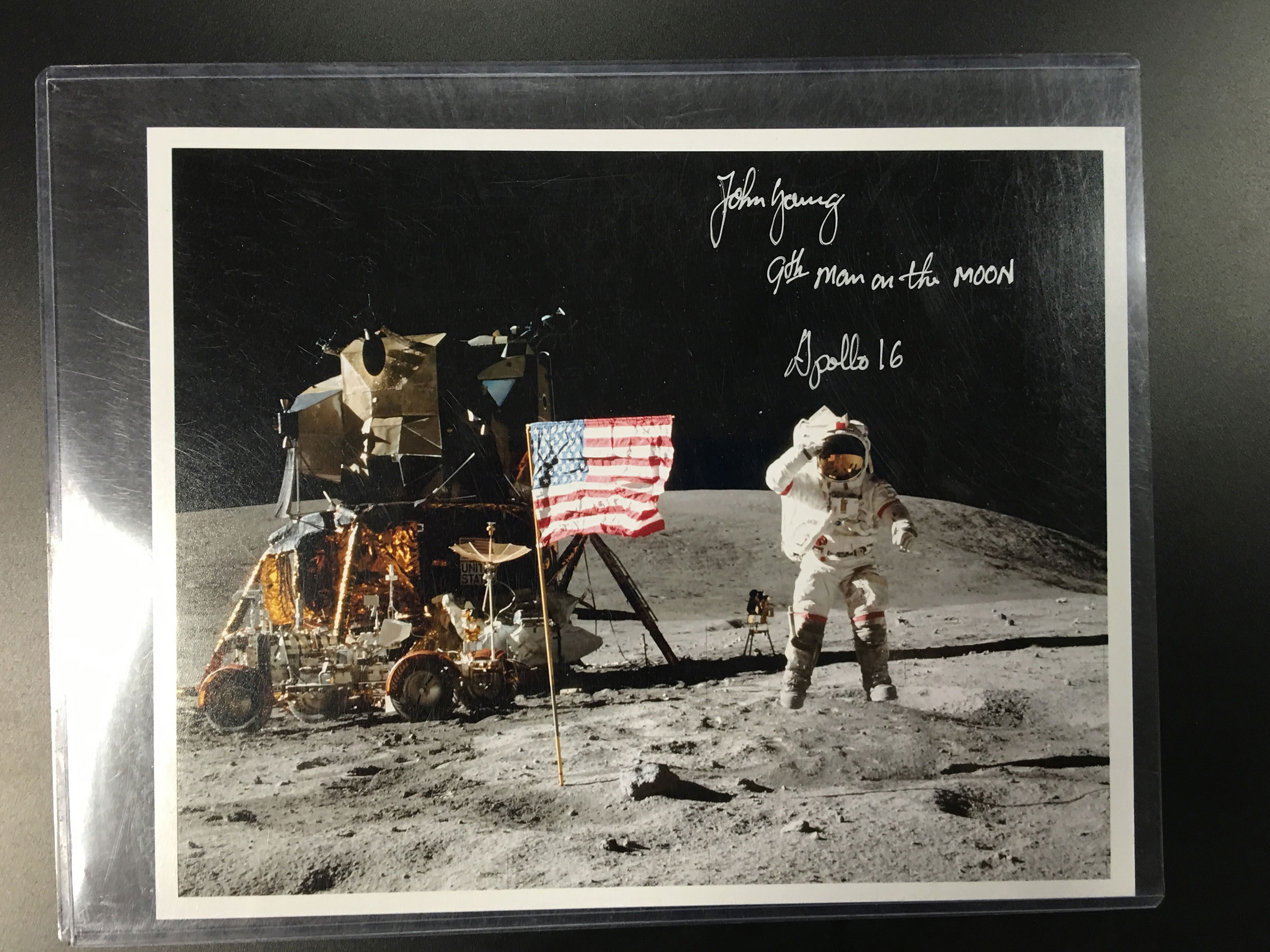 FS: John Young signed 'jump salute' photo - collectSPACE ...