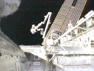 iss special purpose dexterous manipulator collectspace messagesthe move was necessary to free up the worksite for the alpha magnetic spectrometer, scheduled for delivery on sts 134 (the final space shuttle flight) in