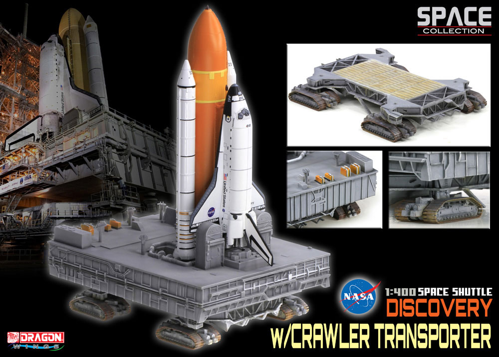 Dragon 1:400 space shuttle w/crawler transporter ...