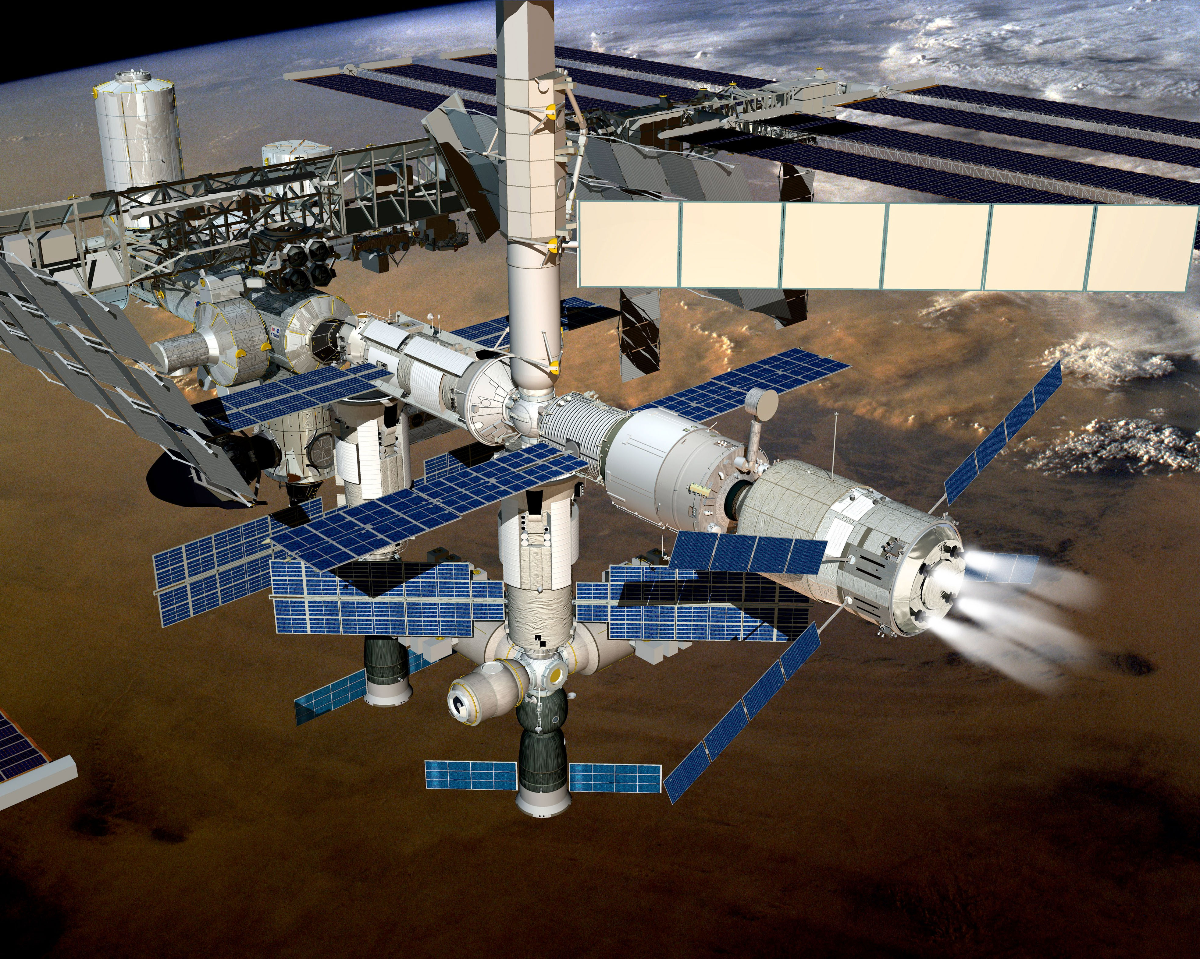 ISS 42: ATV-5 deboosting space station's orbit ...