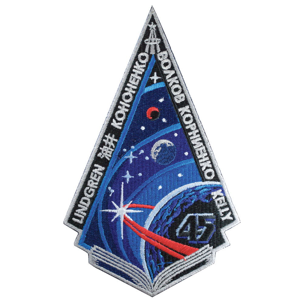 Mission Patches On Mission 4 To The International Space: ISS Expedition 45 Insignia