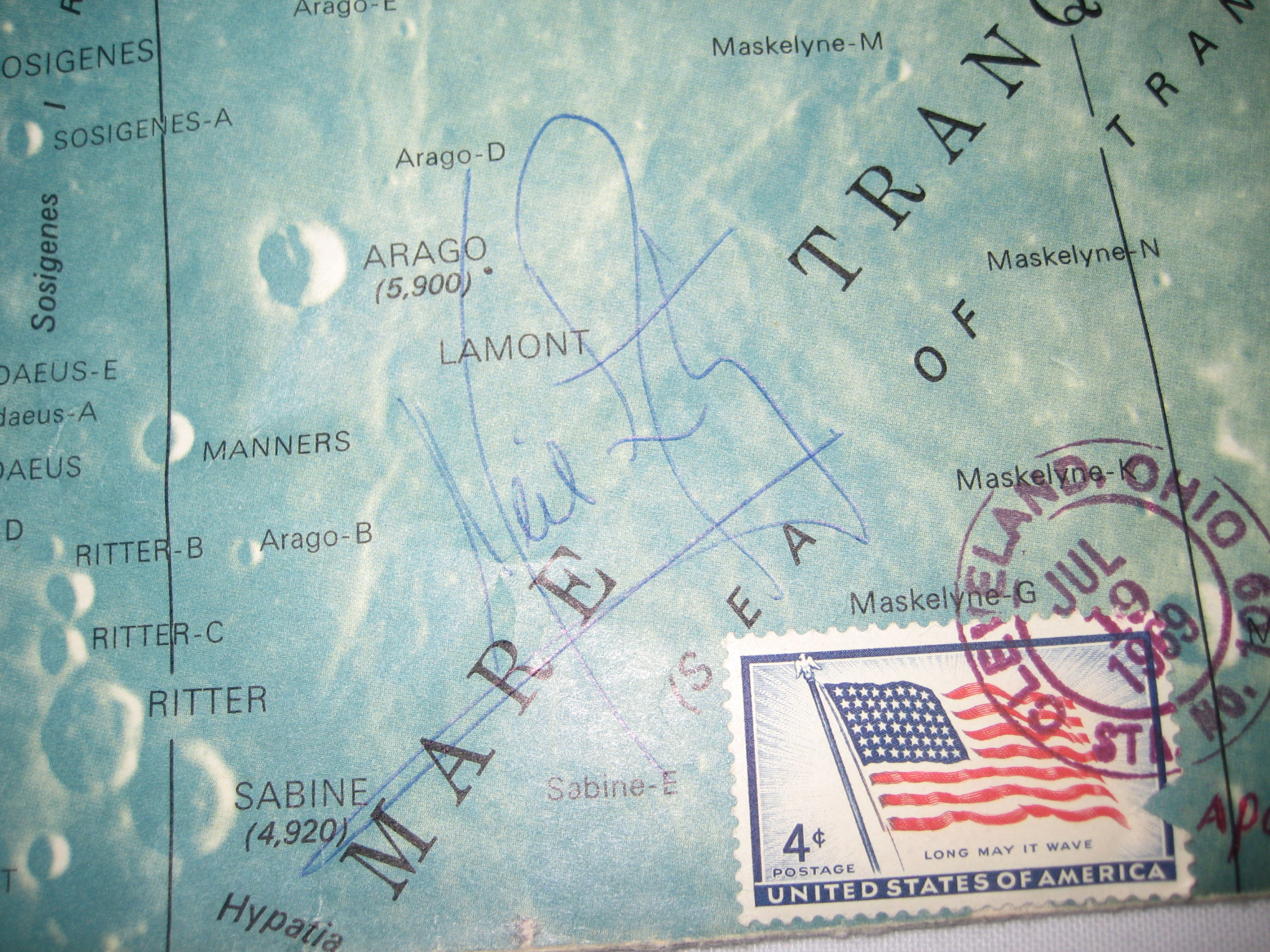 map of neil armstrong where he explored - photo #5
