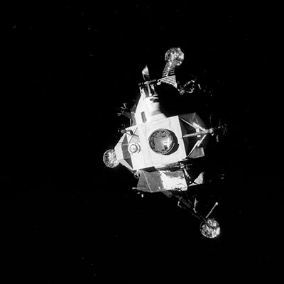 Lunar module docking port open to space? - collectSPACE ...