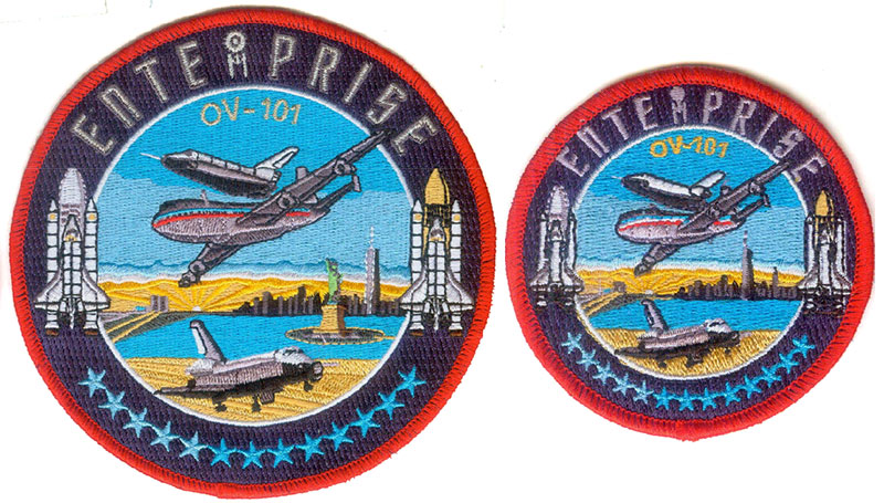 fs ov 101 enterprise 40th anniversary patch collectspace messages. Black Bedroom Furniture Sets. Home Design Ideas
