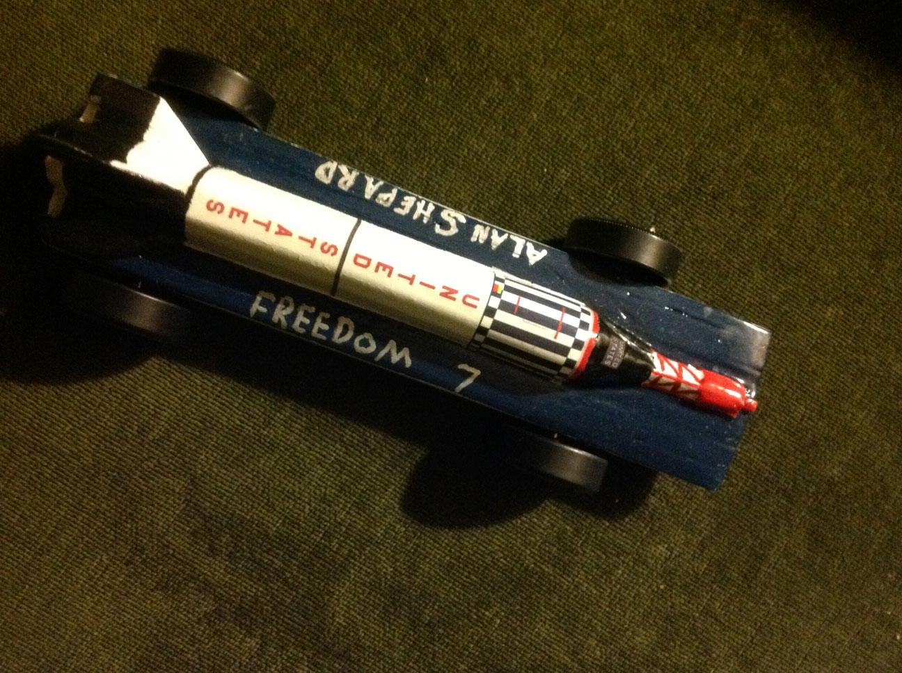Pinewood Derby car: Alan Shepard's Freedom 7 ...
