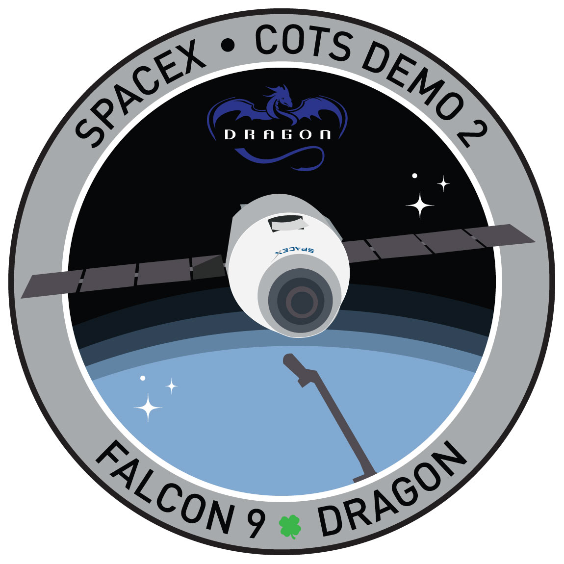 SpaceX COTS Demo 2 patch: First flight to ISS ...
