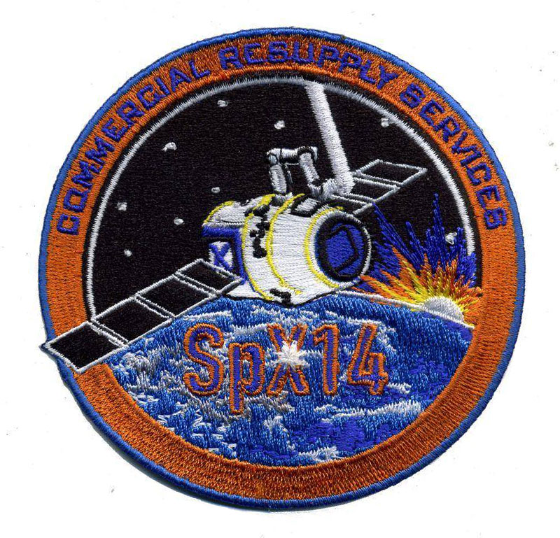 SPACEX CRS-14 NASA COMMERCIAL ISS RESUPPLY ORIGINAL AB Emblem PATCH NEW SPX-14