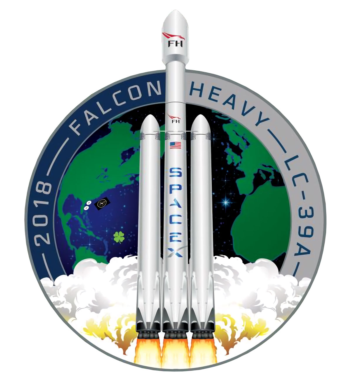 SpaceX Falcon Heavy demo mission patch - collectSPACE ...
