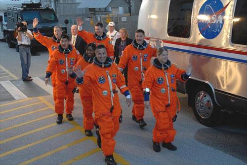 Boarding Space Shuttle