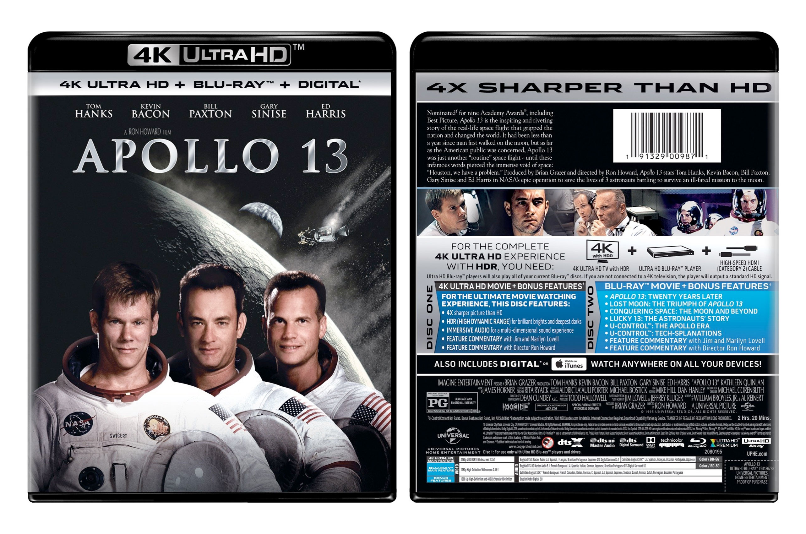 Apollo 13 (Universal 4K Ultra HD + Blu-ray) - collectSPACE: Messages