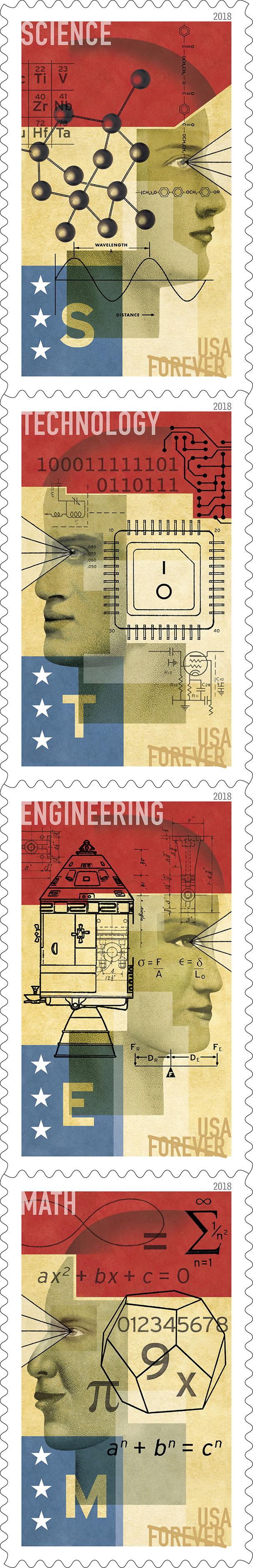 USPS 2018 STEM Education Apollo Stamp