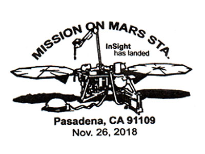 Pictorial postmark: NASA InSight (11 26 2018) - collectSPACE